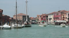 Venice Murano water taxi boats P HD 9514 Stock Footage