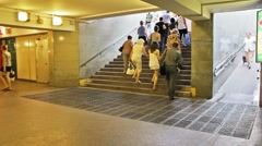 Underground passage, timelapse Stock Footage
