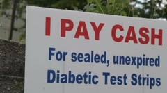 Sign For Test Strips Stock Footage