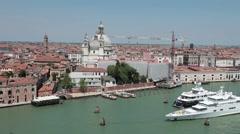 Venice Santa Maria della Salute from ship P HD 1262 Stock Footage