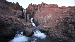 Waterfall in the Westfjords Stock Footage