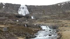 Dynjandi waterfall Stock Footage