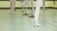 Classic dancer exercising at school of ballet Stock Footage