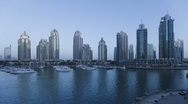 Stock Video Footage of Dusk to night Time Lapse transition of Dubai Marina, Dubai, UAE