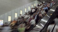 Stock Video Footage of Shoppers in a Hong Kong Mall traveling on an escalator, China, T/Lapse