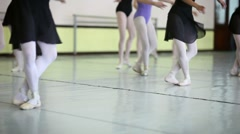 Classic dancers training at school of ballet Stock Footage