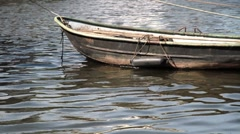 Dinghy in the water - stock footage