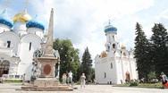 Holy Trinity Saint Sergius Lavra Stock Footage
