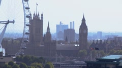 Big Ben, Millenium Wheel, parliament and London eye, Stock Footage