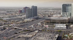 I5 parallel to The Strip (Las Vegas Boulevard), Las Vegas Stock Footage