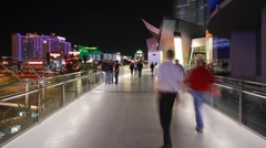 The Strip (Las Vegas Boulevard) at night, Las Vegas Stock Footage