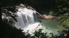 Lower Lewis Falls 01 Stock Footage