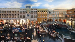 Venetian Canals and Gondolas in Las Vegas - T/lapse Stock Footage