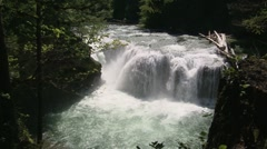 Lower Lewis Falls 06 Stock Footage