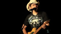 Country Singer Brad Paisley Stock Footage