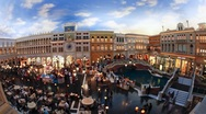 Stock Video Footage of Venetian Canals and Gondolas in Las Vegas - T/lapse