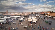 Stock Video Footage of Djemaa el-Fna night market, Marrakech - T/lapse