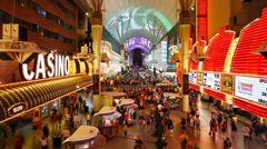 Freemont Street, Downtown Las Vegas - T/lapse Stock Footage