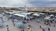 Stock Video Footage of Djemaa el-Fna night market, Marrakech -T/lapse