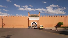 Old City Ramparts, Marrakech, Morocco - stock footage