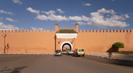 Stock Video Footage of Old City Ramparts, Marrakech, Morocco