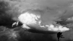 Storm clouds over the Atlas Mountains, Morocco Stock Footage