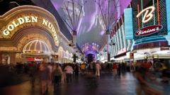 Freemont St. Las Vegas, Nevada -T/lapse Stock Footage