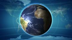 Earth and Radio Wave - LOOP - HD1080 Stock Footage