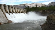Hydro electric power dam Stock Footage