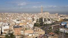 Hassan II Mosque, Casablanca, Morocco, North Africa Stock Footage