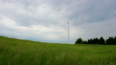 Windmill with Approaching Storm Stock Footage