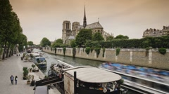 Notre Dame in Paris, France - Time lapse Stock Footage