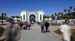 Fez Railway Station, Morocco - Time lapse Stock Footage