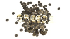 Euro hit by Greece Stock Footage