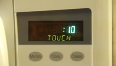 Microwave Timer 10 seconds countdown Stock Footage