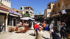 Souk, Fez, Morocco, North Africa, T/Lapse Stock Footage