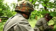 Soldiers leaving position Stock Footage