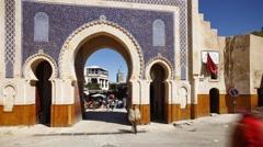 Medina Entrance, Fez, Morocco - T/Lapse Stock Footage