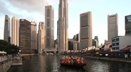 Stock Video Footage of Singapore City Skyline and waterfront, Singapore