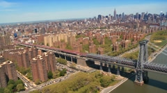 Aerial view of the George Washington Suspension Bridge, New York, USA Stock Footage
