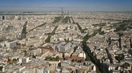 Aerial view of the City of Paris with the Eiffel Tower, France, T/Lapse Stock Footage