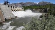 Hydro electric power dam Stock Footage