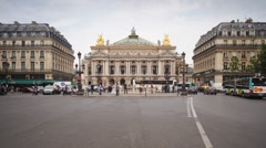 The Paris Opera (Palais Garnier), Paris, France - T/lapse Stock Footage