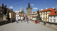Stock Video Footage of Charles Bridge (Karluv Most) Prague, Czech Republic, T/Lapse