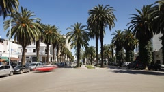 The Boulevard de Rachidi in the smart Lusitania district, Casablanca, T/Lapse Stock Footage
