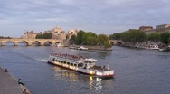 The River Seine Paris in natural and Illuminated light, Paris, France, T/Lapse Stock Footage