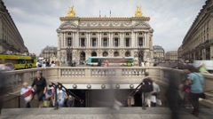 The Paris Opera House (Palais Garnier), France - T/lapse Stock Footage