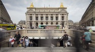 Stock Video Footage of The Paris Opera House (Palais Garnier), France - T/lapse