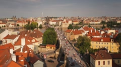 Charles Bridge (Karluv Most) Prague, Czech Republic, T/Lapse Stock Footage