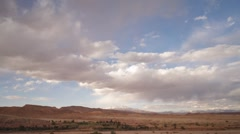 Cloud formations over the Atlas mountains, Morocco, T/Lapse Stock Footage